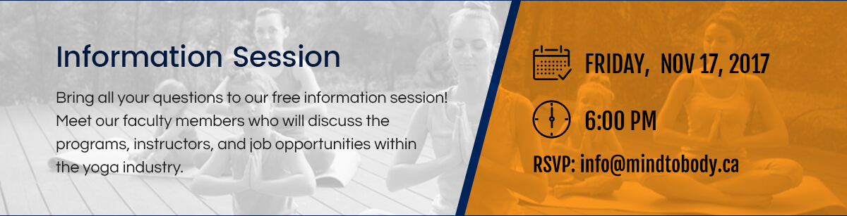 Yoga Teacher Training Info Session Yoga Mississauga